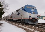 AMTK 163 leads the west bound Southwest Chief